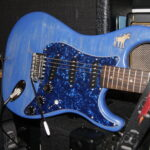 Blå Elgocaster gitarkropp