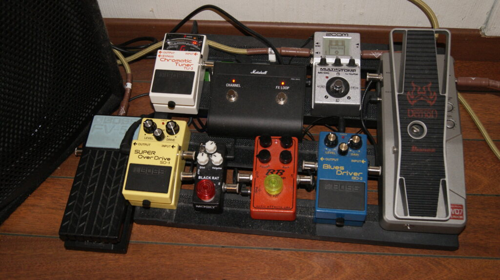 Det lille pedalbrettet mitt, brukes på Marshallen